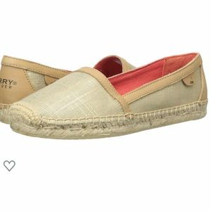 Sherry Top Sider Danica Gold Espadrille Boat Shoes